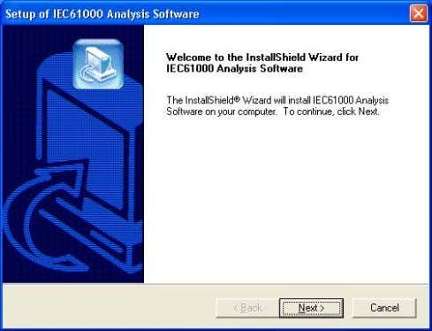 . InstallShield Wizard starts. Startup window of the InstallShield Wizard 5 . Click Next . IM