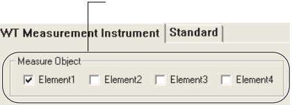 "• Changes when you select ""For 1P2W 230V Instrument."" Element1 selected. Element2 to Element4 deselected. 7"