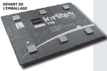 2. 3. 4. 5. plaque de kerlite épais. 3 mm 6. DEVANT DE L'EMBALLAGE EMBALLAGE T90