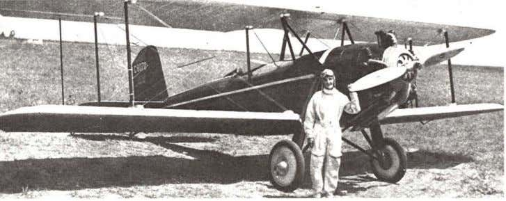 Above: Margaret Perry (Cooper Manser) License No. 4049, and the Tulsa-built Spartan /-6-5 she entered