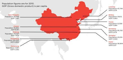 Population figures are for 2010. GDP (Gross domestic product) is per capita. liaoning Population 43,746