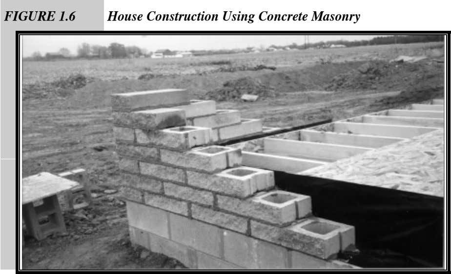 FIGURE 1.6 House Construction Using Concrete Masonry