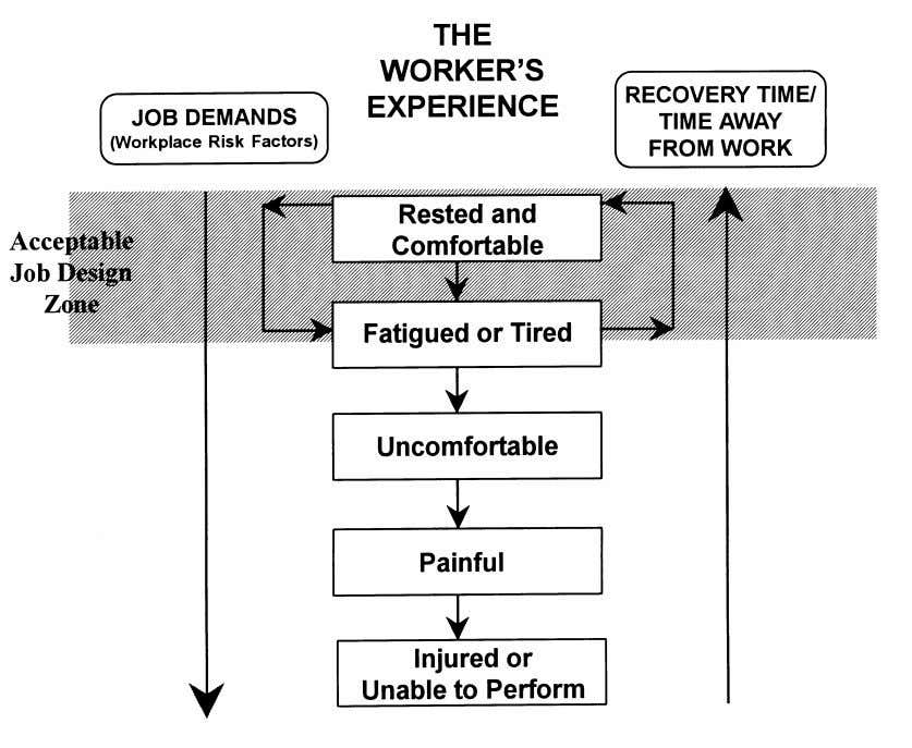 damage will lead to a disorder. Figure 2.1 illustrates this relationship. Figure 2.1 The Worker's Experience