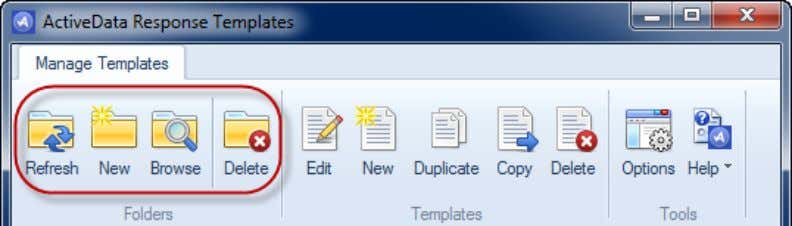 Browse The Browse command sets Outlook's current Explorer view to the Templates folder in your mailbox.