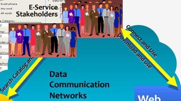 E-Service Stakeholders Data Communication Networks
