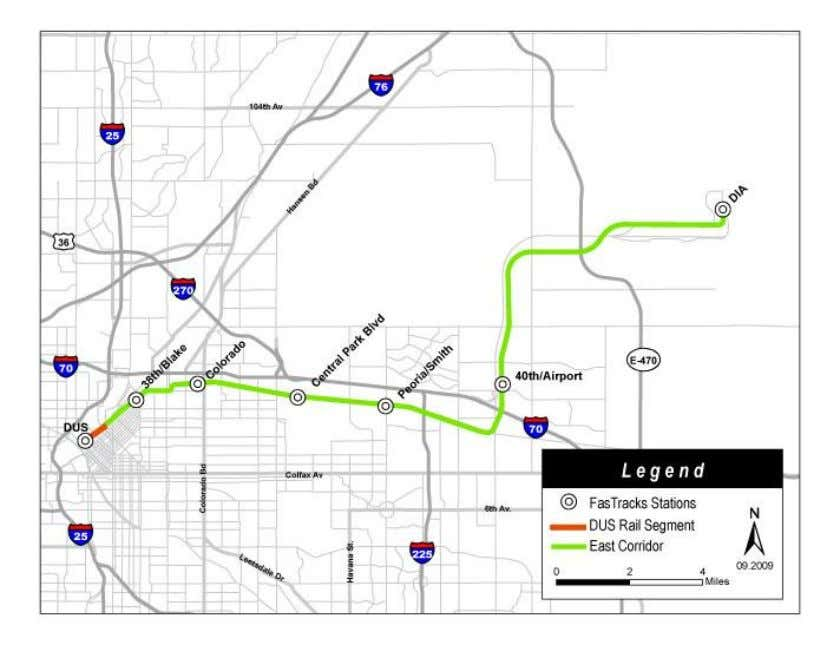 Eagle Project Figure 3.5.1: East Corridor Alignment Overview 3.5.2. East Corridor Alignment Description The primary
