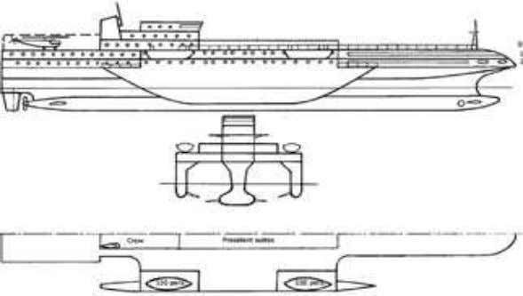 main characteristics of passenger SWA ships with outriggers. Fig. 7. External view on a passenger ship