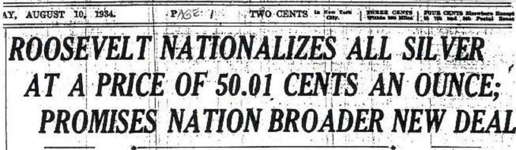 New York Times, August 10, 1934, front page ‐‐‐ Business Week, February 27, 1937, page 35