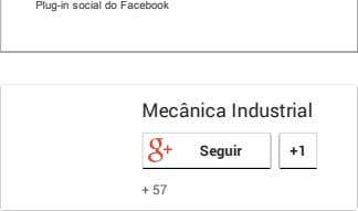 Plug-in social do Facebook Mecânica Industrial Seguir +1 + 57