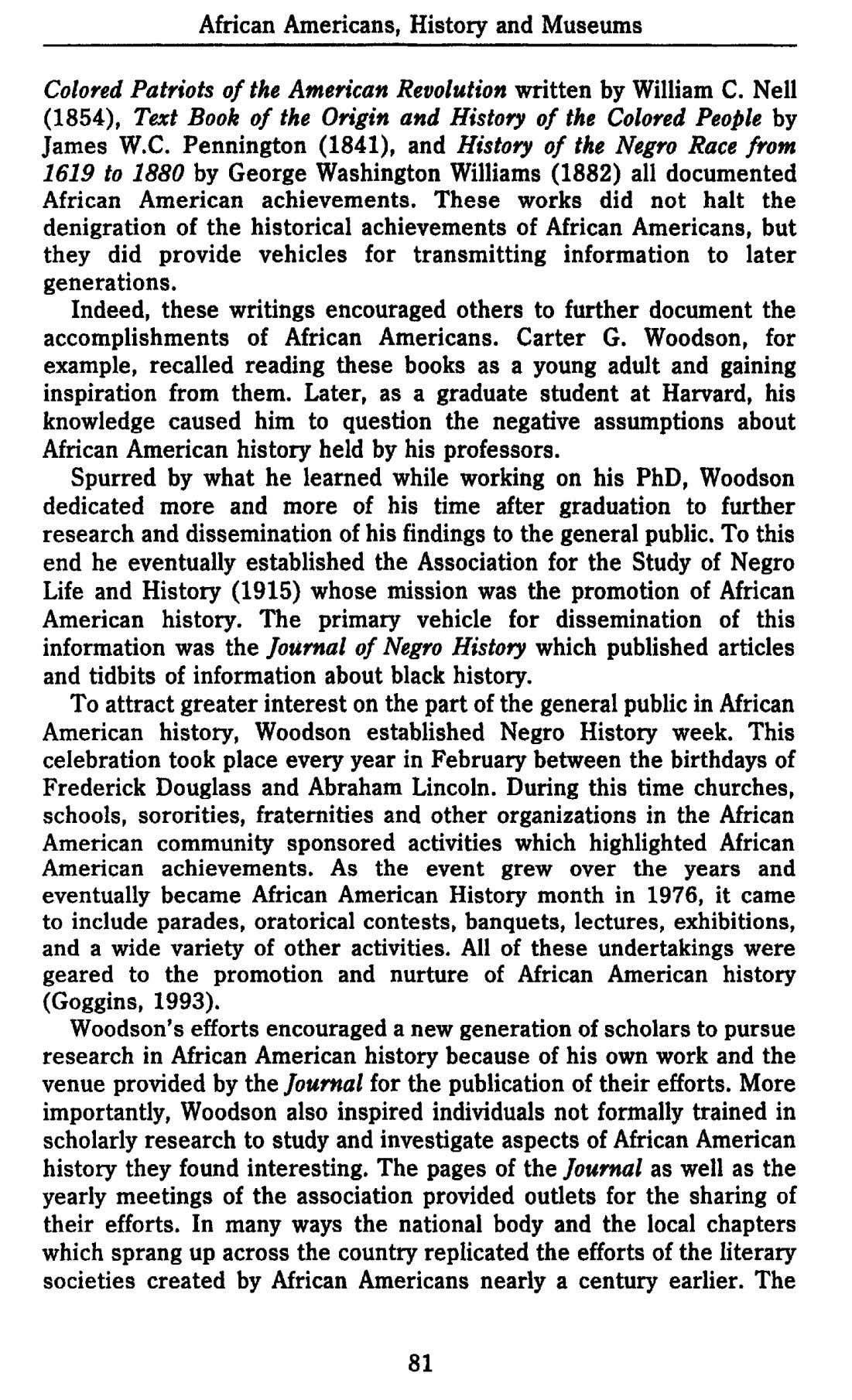 African Americans, History and Museums Colored Patriots of the American Revolution written by William C.