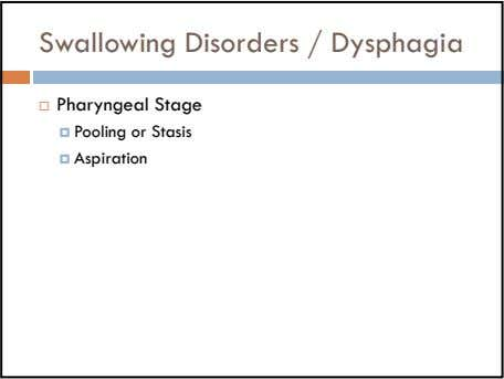 Swallowing Disorders / Dysphagia Pharyngeal Stage Pooling or Stasis Aspiration Illustrations by Elliot Sheltman