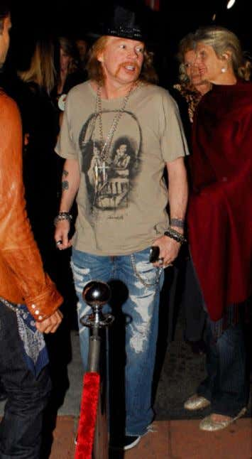 not all the time. Once supremely cool but no longer, Axl Rose. And All the gear