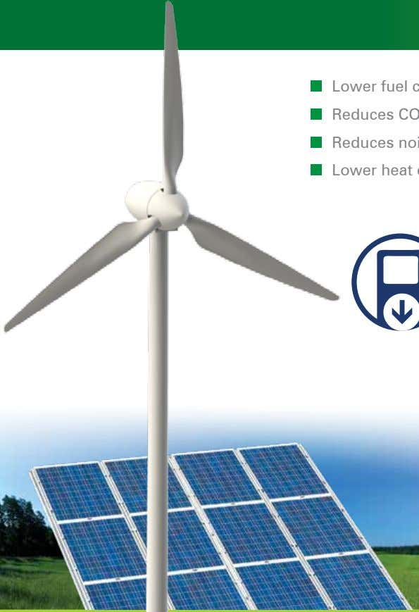 for your budget, also for the nature HYBRID POWER SYSTEMS 65 OptimumEnergy Solutions Green Energy %