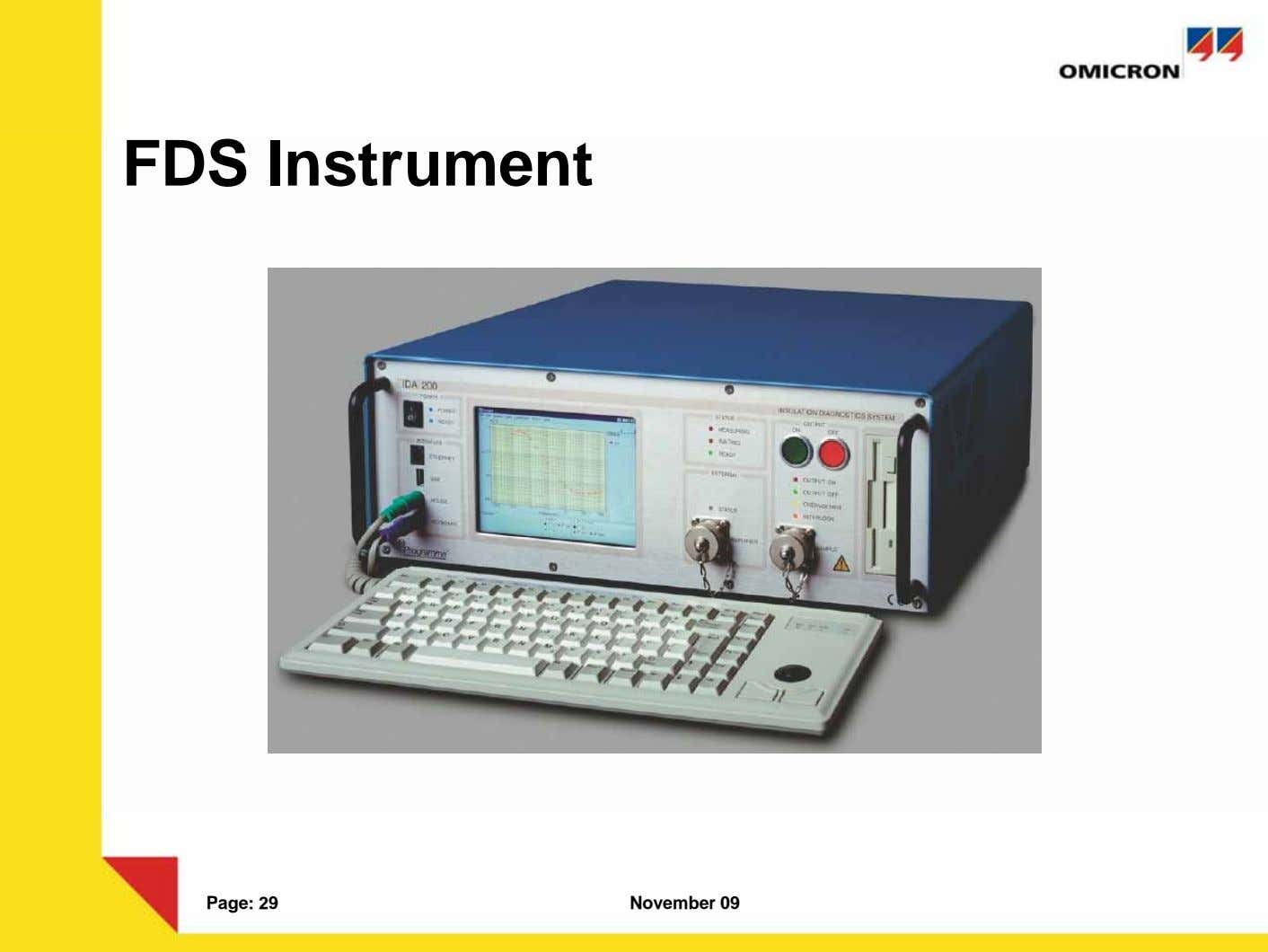 FDS Instrument Page: 29 November 09