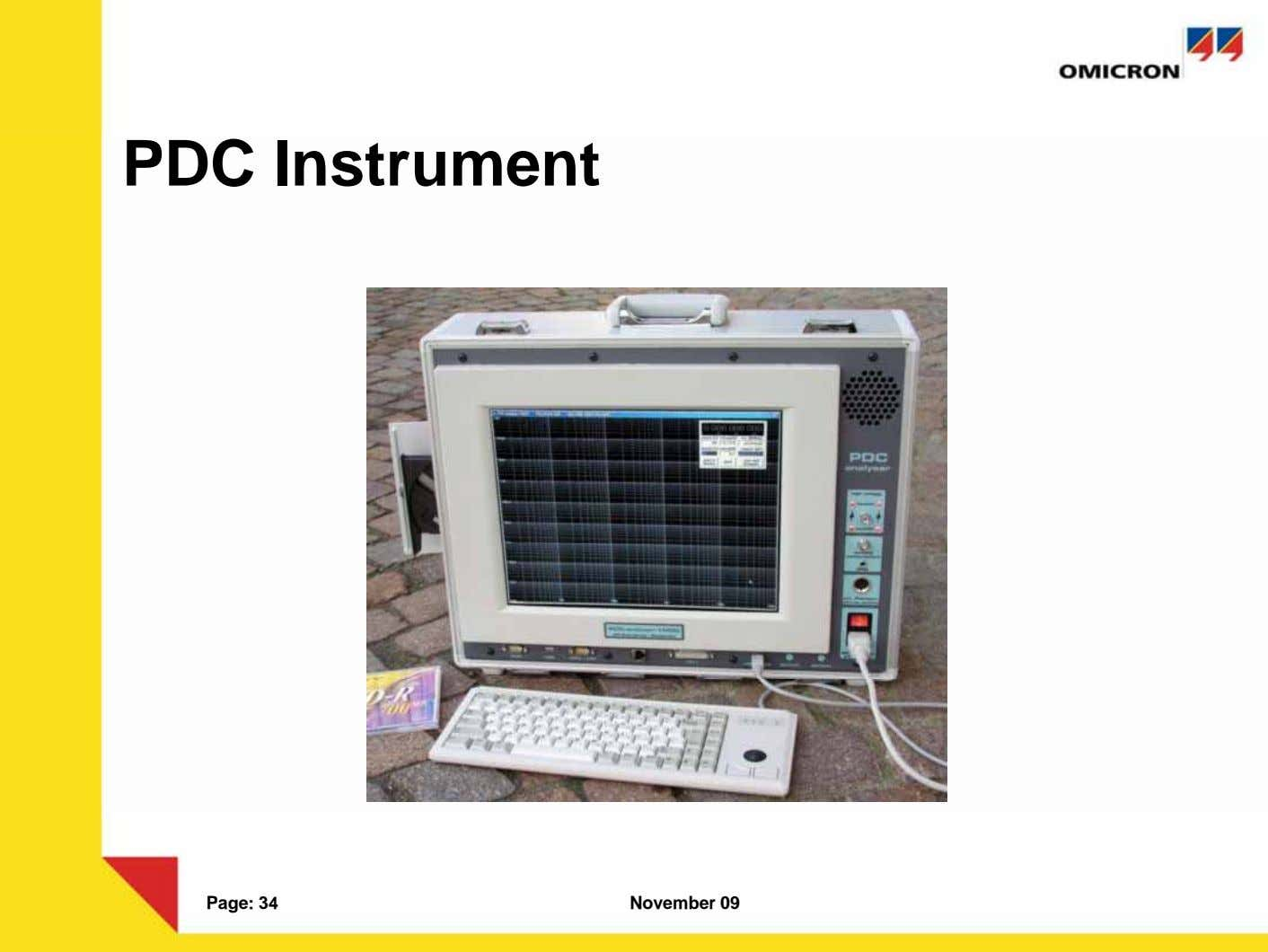 PDC Instrument Page: 34 November 09