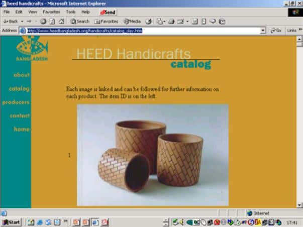 PEOPLink allows pass word protection (see section 9.1.2). While HEED Handicrafts be g an b y