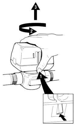 GB Fig. 3: Valve mounting position Fig. 4: Removing the ac- tuator 5. Wiring WARNING: Electrical