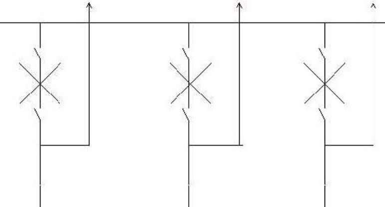 When contacts of a circuit breaker are separated, an arc is struck; the current is thus