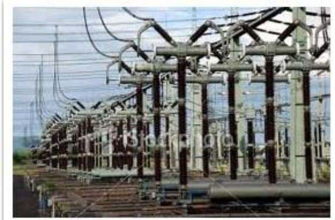 4. SUBSTATIONS Figure 4.1View of substation The present day electrical power system is A.C.i.e. electrical power