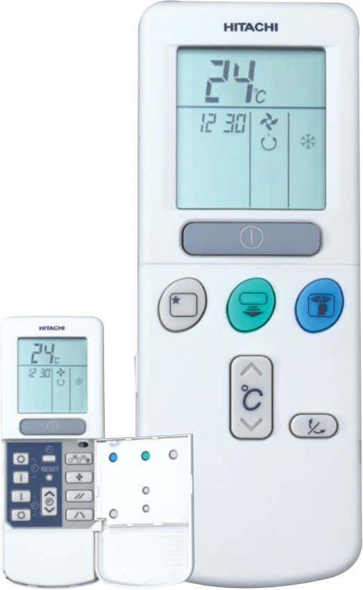 Simple comfort even before you get home. Easy to use LCD Remote Control Keeping your home