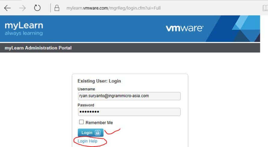of Attendance Login to: https://mylearn.vmware.com Confidential and proprietary information of Ingram Micro