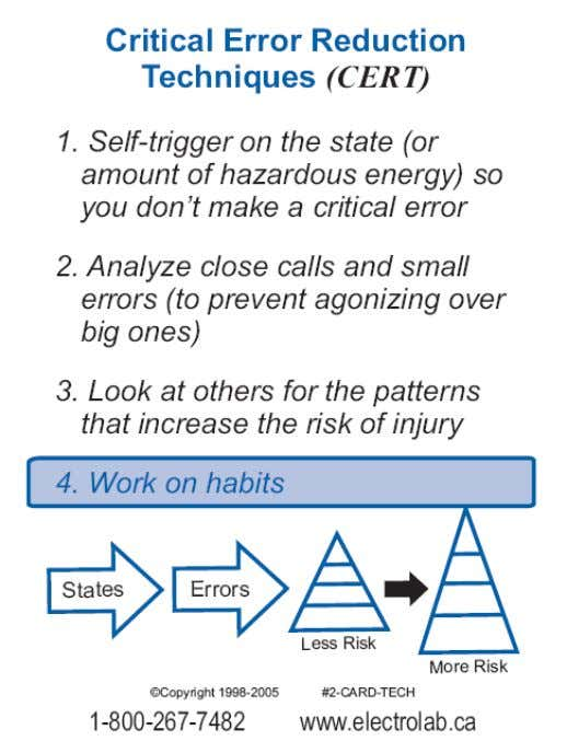 """Safety in the Real World"" 4. Start to work on your Safety Critical habits"