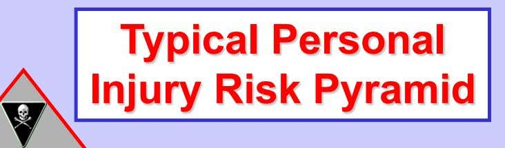 Typical Personal Injury Risk Pyramid