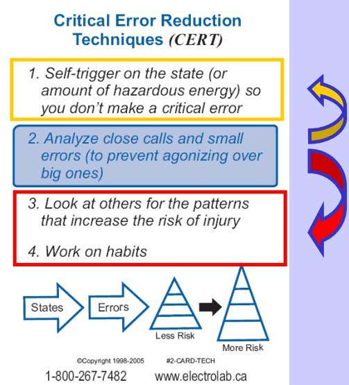 """Safety in the Real World"" Analyzing Close Calls & Errors ? ? ? ?"