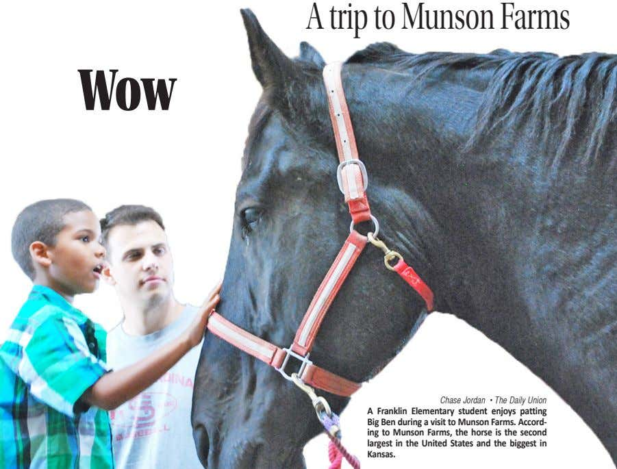 Atrip to Munson Farms Wow Chase Jordan • The Daily Union A Franklin Elementary student