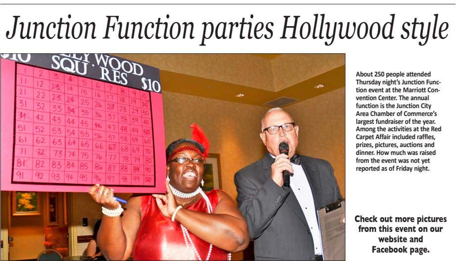 JunctionFunctionparties Hollywoodstyle About 250 people attended Thursday night's Junction Func- tion event at the