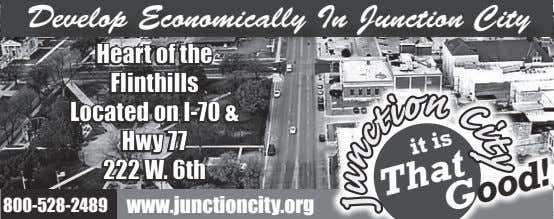 y t i C Develop Economically In Junction City n 800-528-2489 www.junctioncity.org o it is