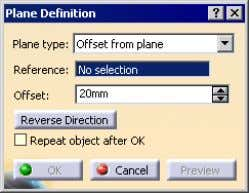 Chapter 4 • Reference Planes • You need to select other default planes or create new