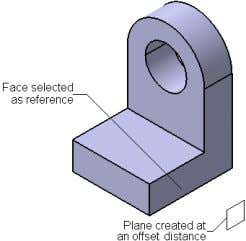 Chapter 4 • Creating a Plane at an Offset from Existing Plane/Planar Face • Creating a