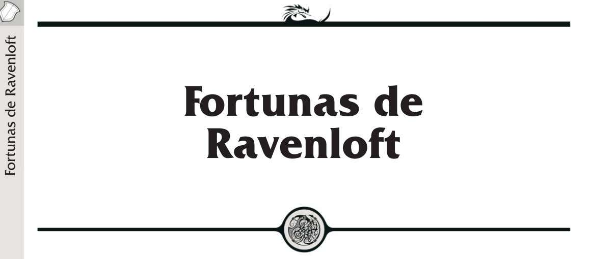 Fortunas de Ravenloft Fortunas de Ravenloft