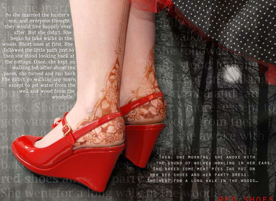 Red Shoes So she married the hunter's son, and everyone thought they would live happily