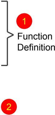 1 Function Definition 2