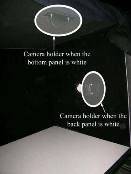 the distribution is captured is called the active panel. Fig. 4: Camera placement for back and