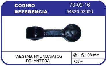CODIGO 70-09-16 REFERENCIA 54820-02000 98 mm V/ESTAB. HYUNDAIATOS DELANTERA