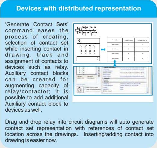 Devices with distributed representation 'Generate Contact Sets' command eases the process of creating, selection