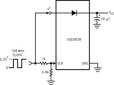 6.3V Figure 27. Using the A/D as the System Supply Regulator Figure 26. Generating V C