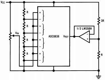≤ 5V Figure 36. Obtaining Higher Resolution - 9-Bit A/D Controller performs a routine to determine