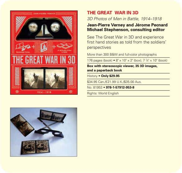 the great war in 3d 3D Photos of Men in Battle, 1914–1918 Jean-Pierre verney and