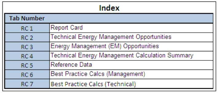 Exhibit 30: Report and Opportunity Identification index table There are five tabs in the Report Card