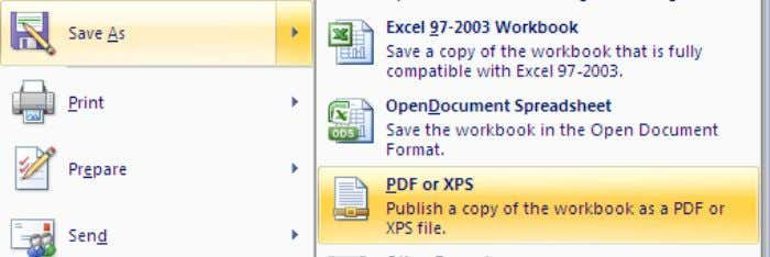 ―PDF or XPS‖ Exhibit 38: Converting to PDF (step 2) III. Under ―Save as type‖, select