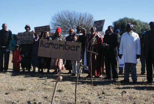Photo by groundWork, Friends of the Earth, South Africa Neighbours protesting against ArcelorMittal steel mill in
