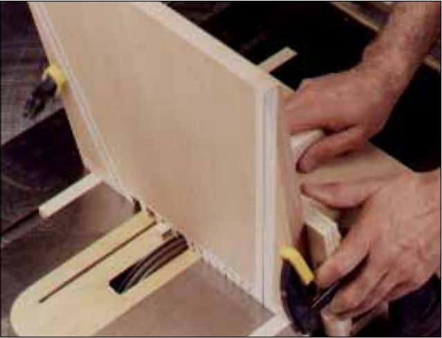 flush, and finish-sand the stool. WOOD MAGAZINE WINTER 1998 Clamp the workpiece to the jig, and