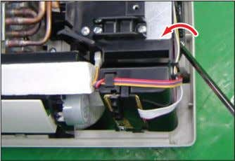 unit connection wire from the Terminal Block. Loosen 4 fixing screws(CCW) of Ass'y Control-In. (Use +Screw