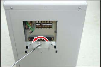 3) Loosen 1 screw(CCW) fixed to assemble Control Box with Cabinet-Side RH.