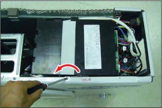 5) Loosen 2 screws(CCW) fixed on the Guide Condenser. 6) Loosen fixing screws(CCW) of
