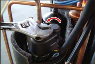 5 Compressor 1) Loosen the fixing nut(CCW) and detach the Compressor Lead Wire.